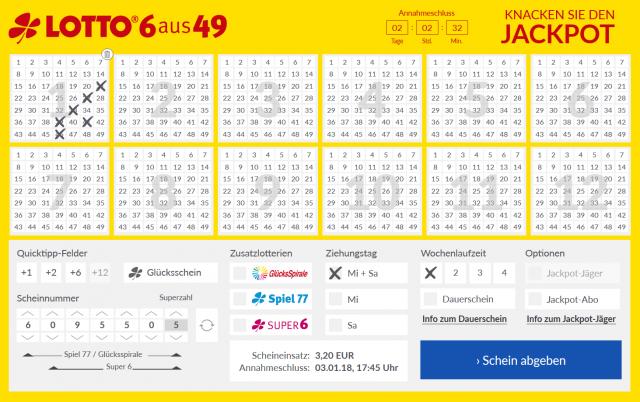 Lotto24 Tippschein